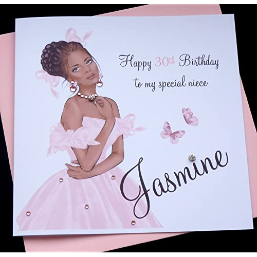 Handmade Personalised Birthday Card Sister Friend Daughter Granddaughter Goddaughter Niece 16th 18th 21st 30th 40th