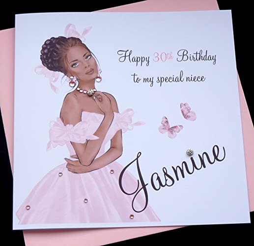 Handmade Personalised Birthday Card Sister Friend Daughter Granddaughter Goddaughter Niece 16th 18th 21st 30th 40th Etc Amazoncouk