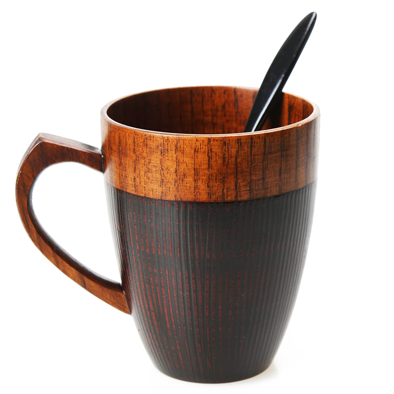 amazon com cool coffee mug handmade wood coffee tea cup 11 oz