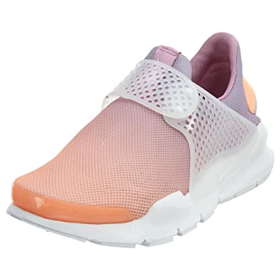 buy online dd216 6e63c Nike Sock Dart BR Womens Running-Shoes 896446-800 9 - Sunset Glow White