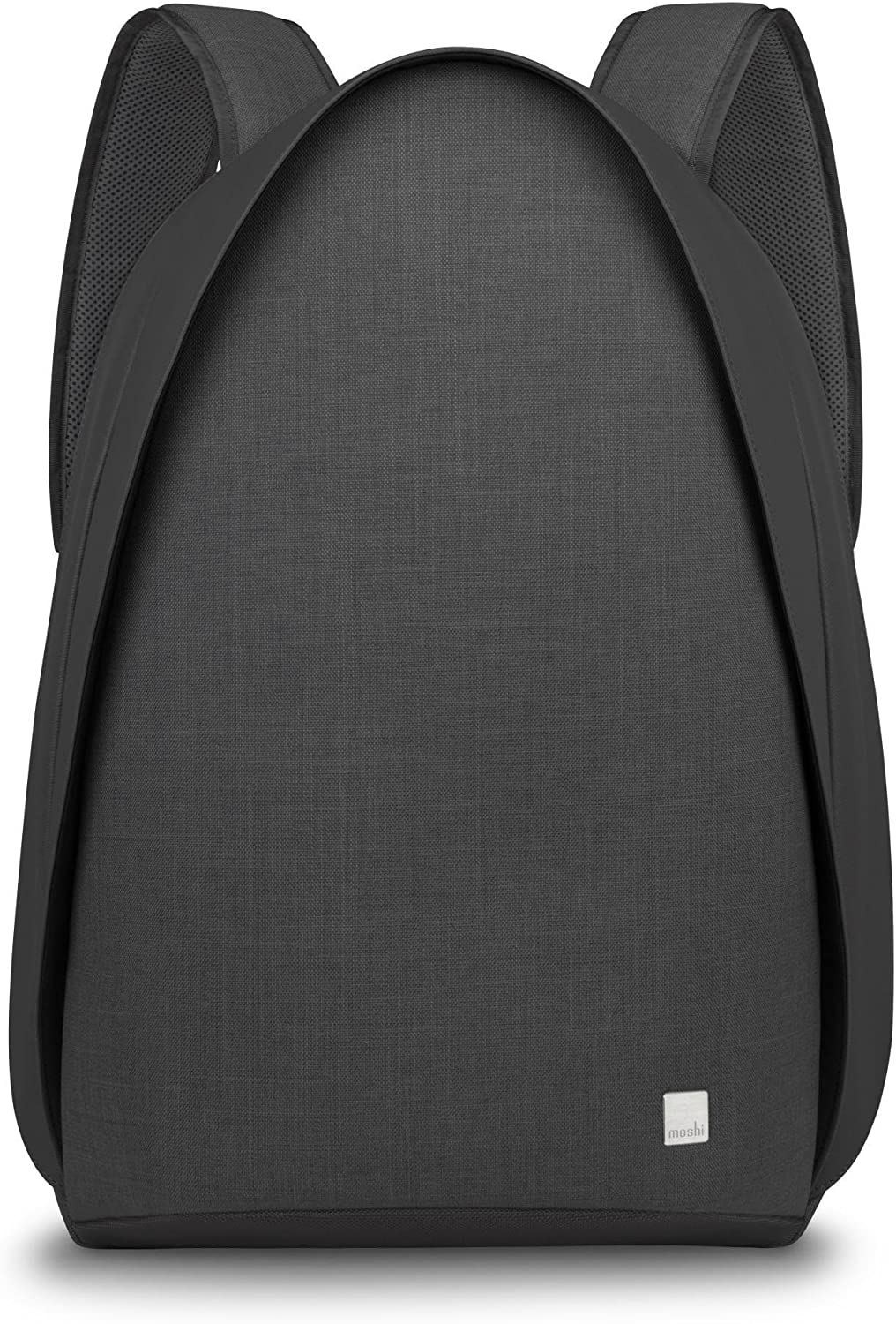 Moshi 99MO110001 Tego Anti-Theft Backpack with USB Charging Port, Water Resistant, Charcoal Black