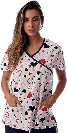 Just Love Tops de enfermería para mujer