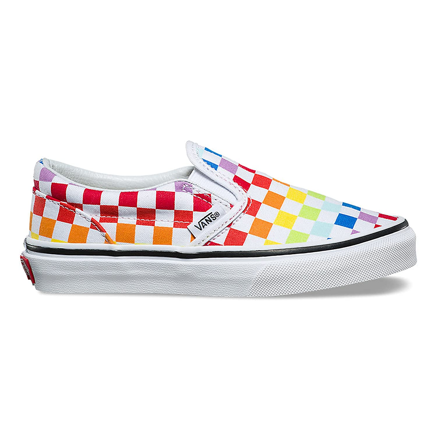 79a636462b400f Vans Kids Classic Slip-On (Checkerboard) Rainbow True White VN0A32QIU09  Kids Size 7  Amazon.co.uk  Shoes   Bags