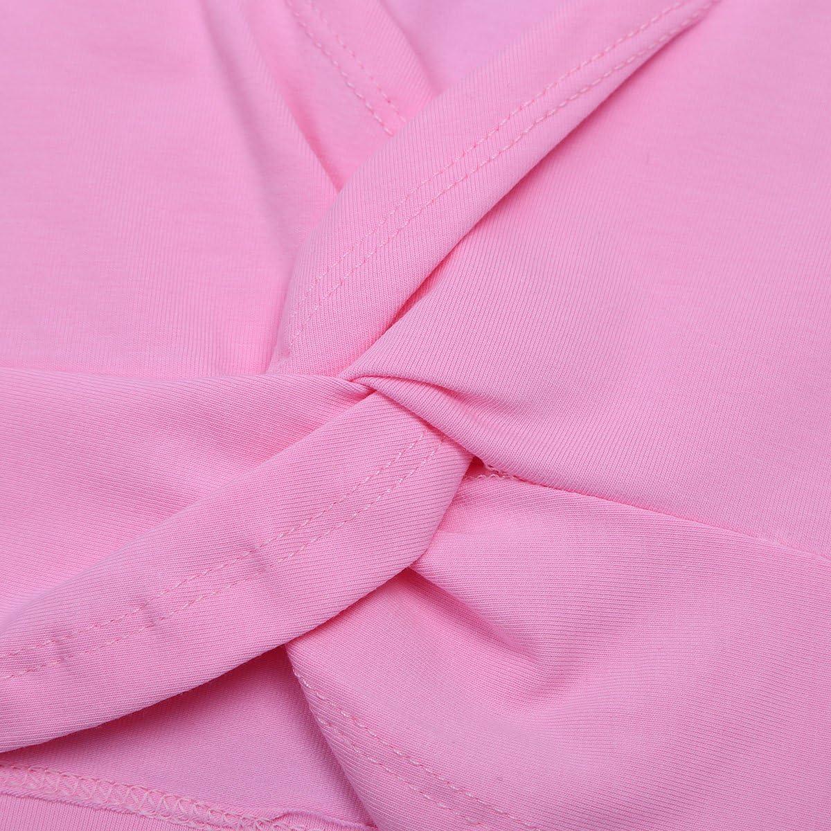 TiaoBug Girls Ballet Dance Crossover Cardigan Knit Wrap Warm-up Sweaters Gymnastics Costume