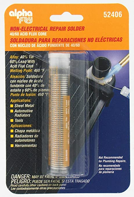 Alpha Fry AM52406 40/60 Acid Core Solder & Dispenser