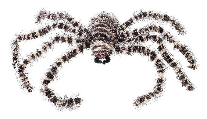 Amazon Morbid Enterprises Striped Spider Creepy Crawlers Halloween Decor Multi One Size Home Kitchen