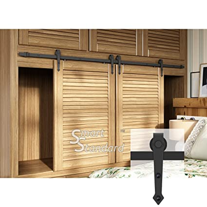 Amazon 7ft Double Door Cabinet Barn Door Hardware Kit Mini