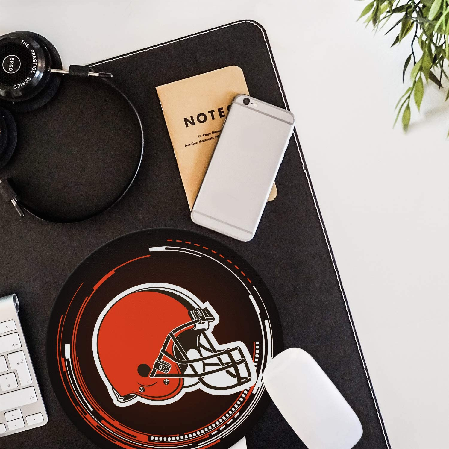 Round Mouse pad Rubber Base for Stable Grip Logo Creative Custom Non-Slip Mouse Mat| Improved Precision and Speed CANDICE NFL Mouse Mat//Gaming Mouse Pad 8.7Inch