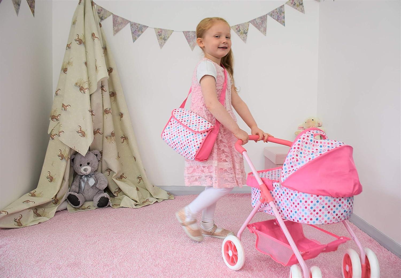 KOOKAMUNGA KIDS Unicorn Reversible Doll Pram with Diaper Bag