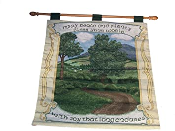 manual woodworkers u0026 weavers irish blessing tapestry wall hanging
