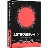 "Astrobrights Color Paper, 8.5"" x 11"", 24 lb/89 gsm, Rocket Red, 500 Sheets (21648)"