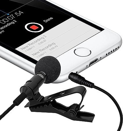 2 unidades milagro sonido Deluxe – para Samsung Galaxy S3 MINI i8190 de solapa Lavalier micrófono de condensador omnidireccional para iPhone, iPad, iPod Touch, Samsung Android y Windows Smartphones: Amazon.es: Instrumentos musicales