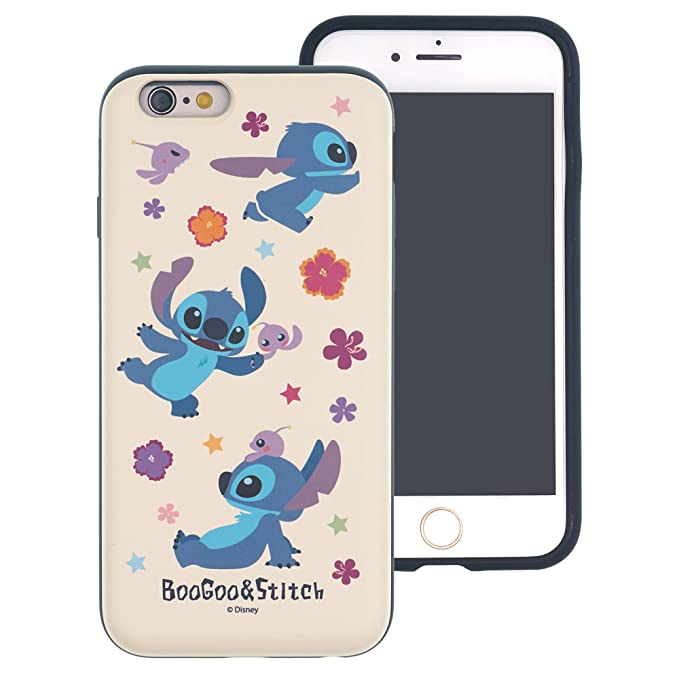 big sale 087b9 eca3b iPhone 6S / iPhone 6 Case, Cute Stitch Layered Hybrid [TPU + PC] Bumper  Cover [Shock Absorption] for iPhone6S / iPhone6 (4.7inch) - Stitch & Boogoo