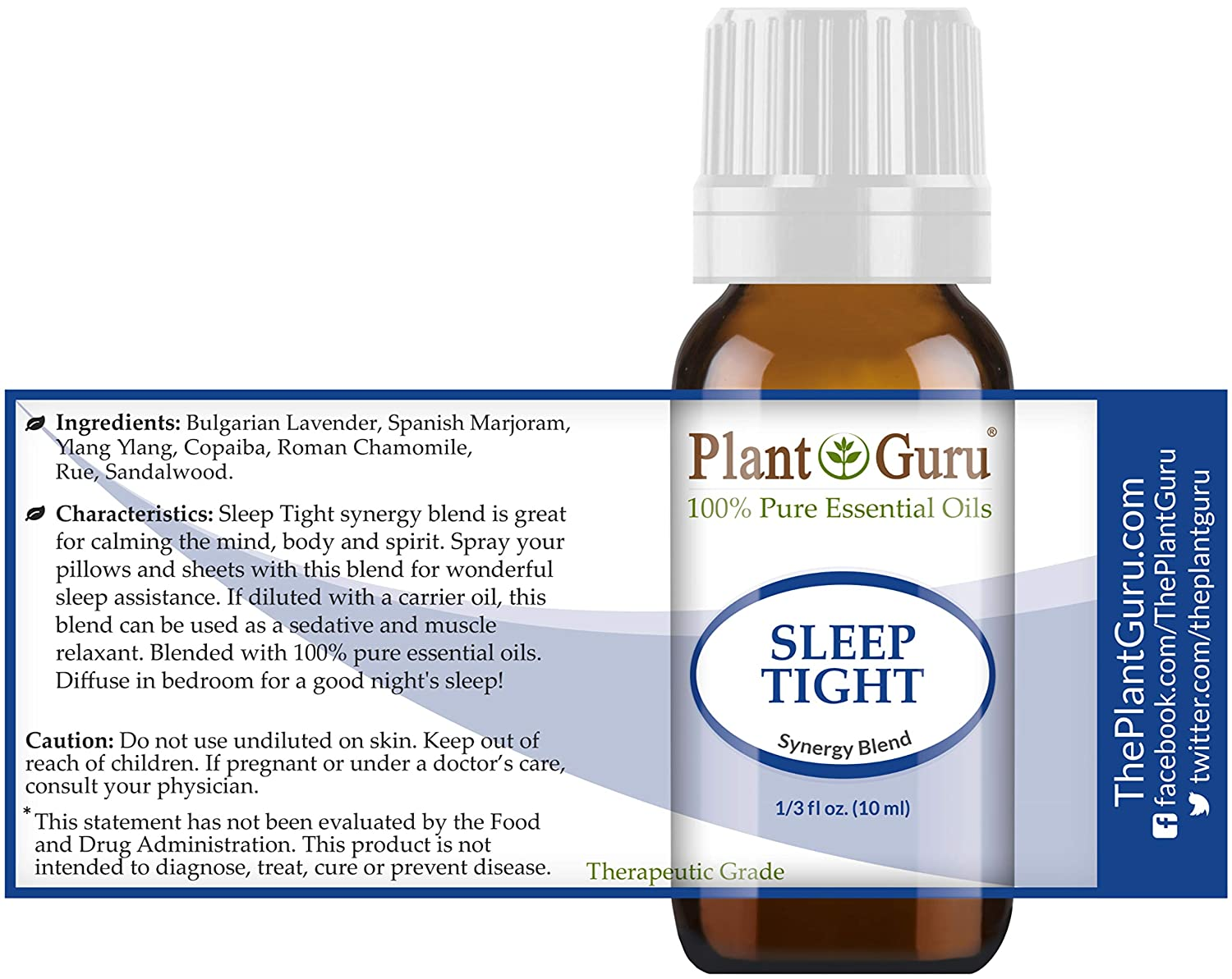 Sleep Tight Essential Oil Blend 10 ml 100% Pure Undiluted Therapeutic  Grade  Good Night Aid,