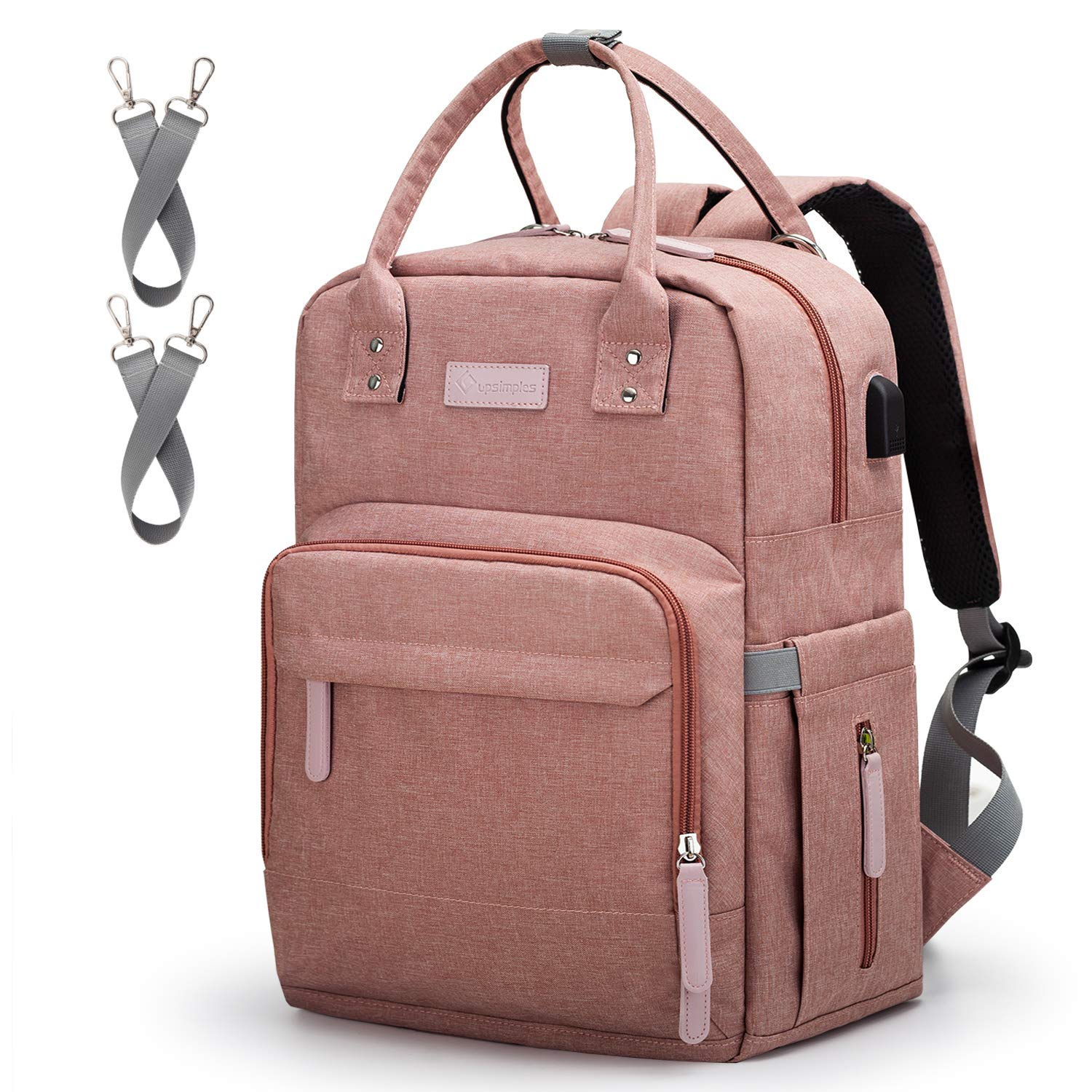 a1aca1dfef8b Amazon.com   Diaper Bag Backpack Upsimples Multi-Function Maternity Nappy  Bags for Mom   Dad