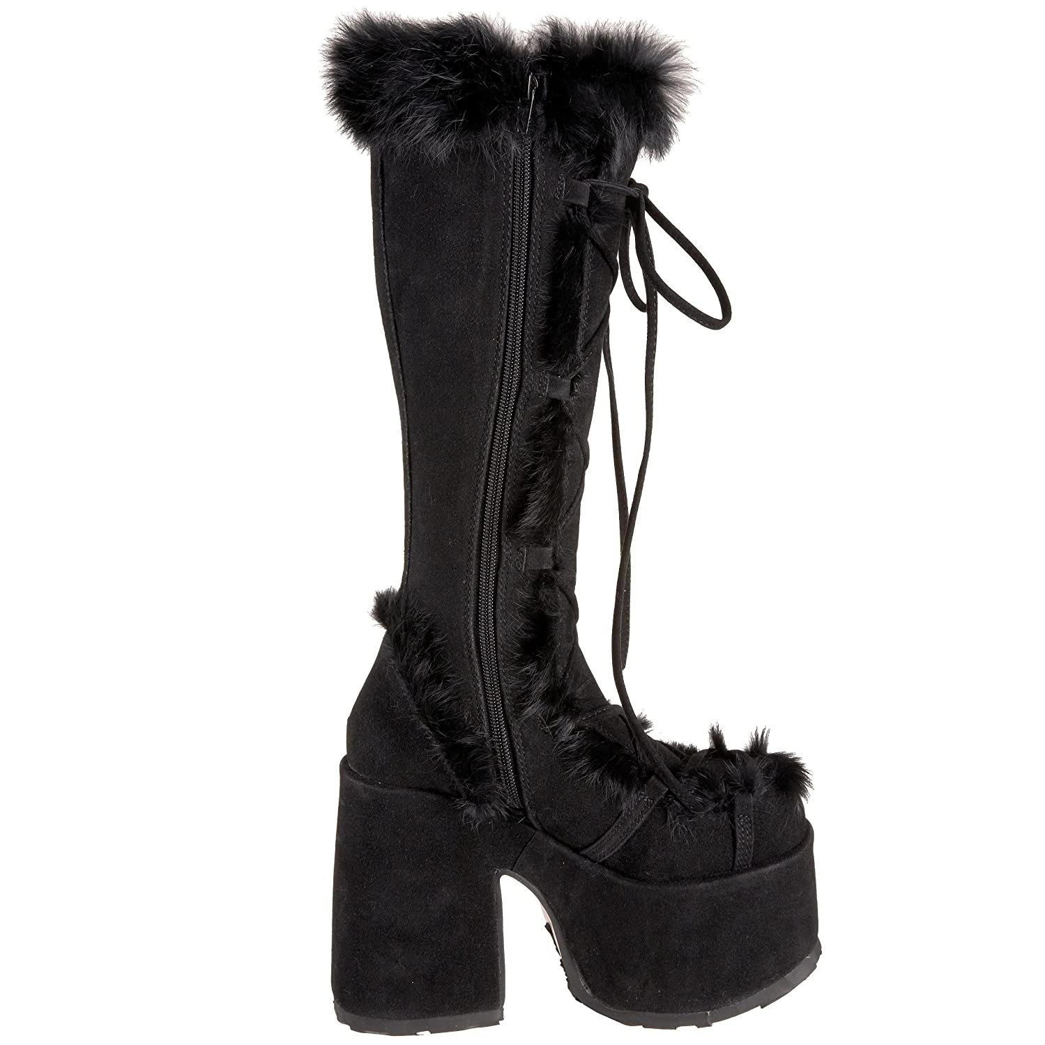 Pleaser Demonia By Women's Camel-311 Boot B0013JOUZS 9 B(M) US|Black Imitation Suede