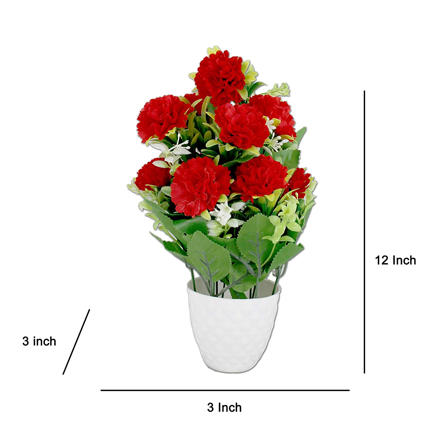 Buy Artificial Flower With Pot Flower Vase For Home Decoration Flower Pot With Artificial Flowers Artificial Flower With Plastic Pot Online At Low Prices In India Amazon In