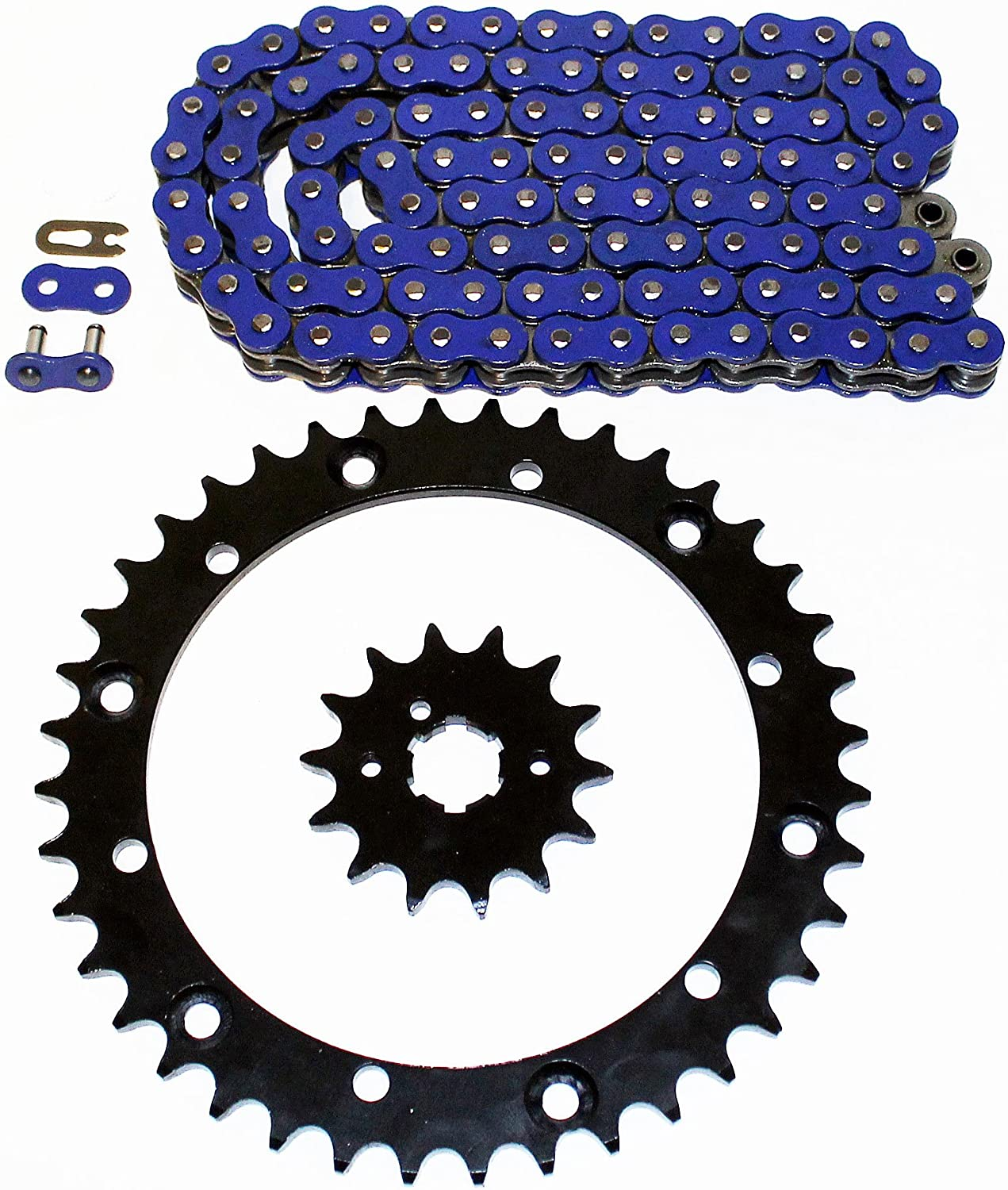 94-98 fits Yamaha YFM350 350 Warrior Blue Non O-Ring Chain /& Silver Sprocket 13//41 98