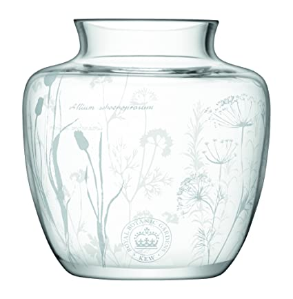 Amazon Lsa Kew Gardens Glass Vase With Etched Herb Floral
