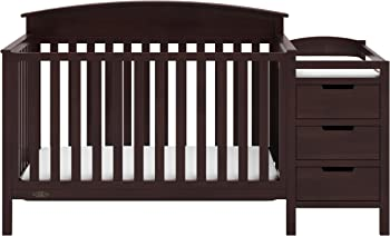 Graco Benton 4-in-1 Convertible Crib and Changer (Espresso)
