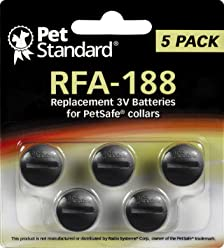 PetSafe Compatible RFA-188 Replacement Batteries (Pack of 5)