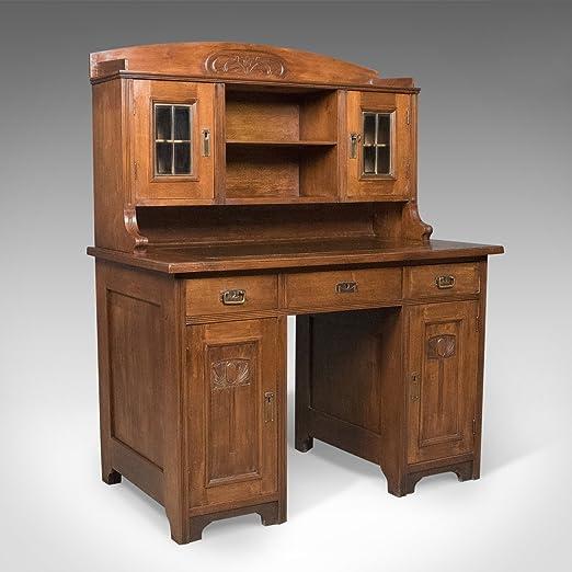 London Fine Antiques Antiguo Estilo Art Nouveau Escritorio, Inglés ...