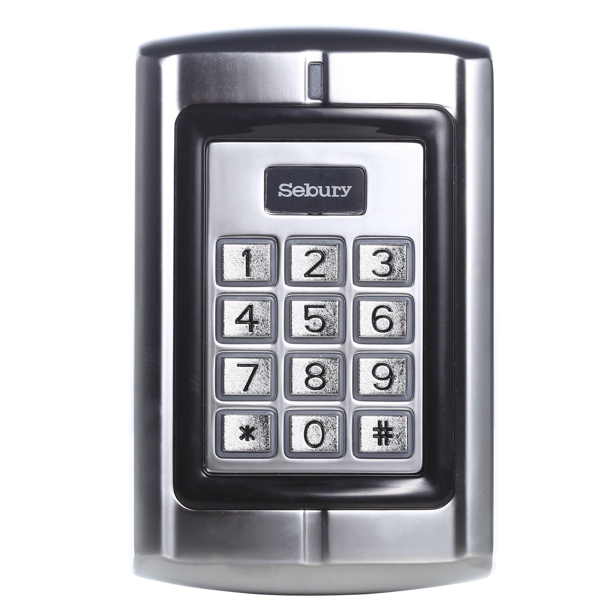 UHPPOTE 125KHz RFID EM ID Card Metal Stand-alone Access Control Keypad