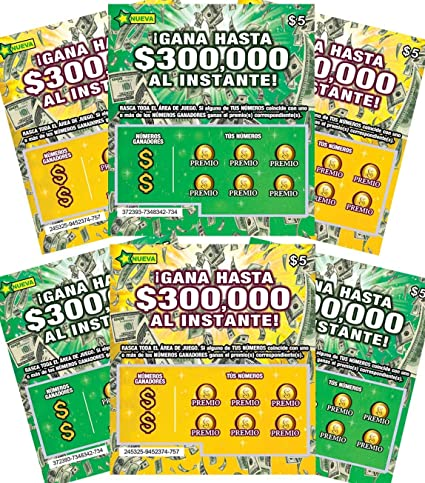 FMPLT Fake Mexican Mexico Lottery Tickets Scratch Off - All Win $50,000 to  $300,000 - The Ultimate Prank - Tarjetas de Lotería Rasca y GANA de Broma