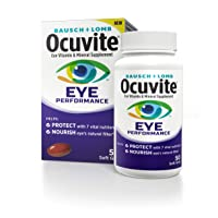 Bausch + Lomb Ocuvite Eye Performance Formula, 50 Soft Gels