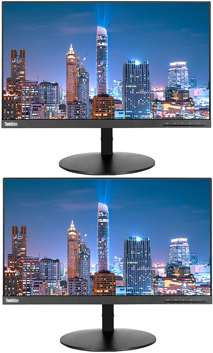 Lenovo ThinkVision T22i-10 21.5 Inch FHD (1920 x 1080) LED Backlit LCD IPS Monitor (61A9MAR1US) 2-Pack