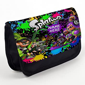 9f8959b044ae Personalised Pencil Case Splatoon Stationary Bag Back to School Gift -  Black ST849