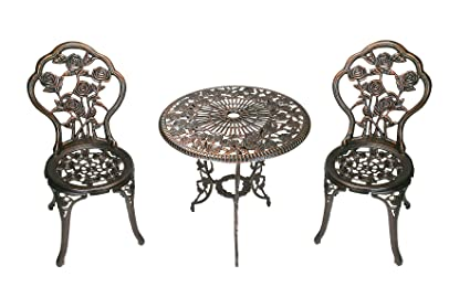 51afba2f6297f Amazon.com   Oakland Living 3-Piece Rose Bistro Set with 23.5-Inch ...