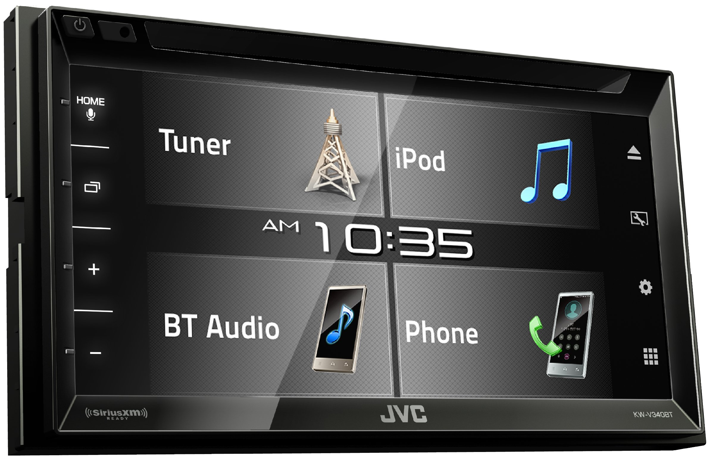 JVC KW-V340BT 6.2-inch Bluetooth DVD/CD/USB WVGA Receiver with 6.8-inch Clear Resistive Touch Control (Renewed) by JVC