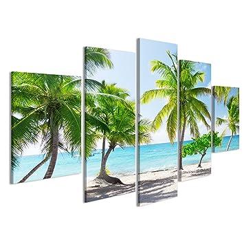Islandburner Bild Bilder Auf Leinwand Palmenstrand Karibik Poster