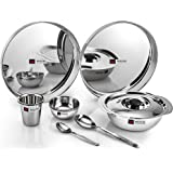 Butterfly Stainless Steel Lunch Set, 10-Pieces, Silver