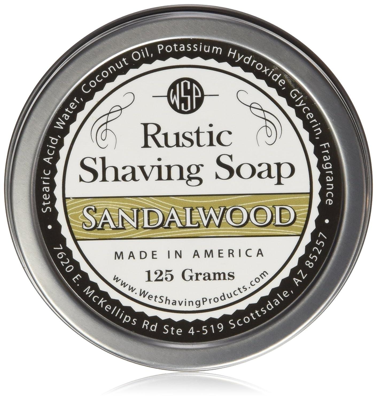 WSP Luxury Rustic Shaving Soap 4.4 Oz (Black Amber Vanille) Artisan Made in America Using Vegan Natural Ingredients in Tin WSP Rustic Shave Soaps