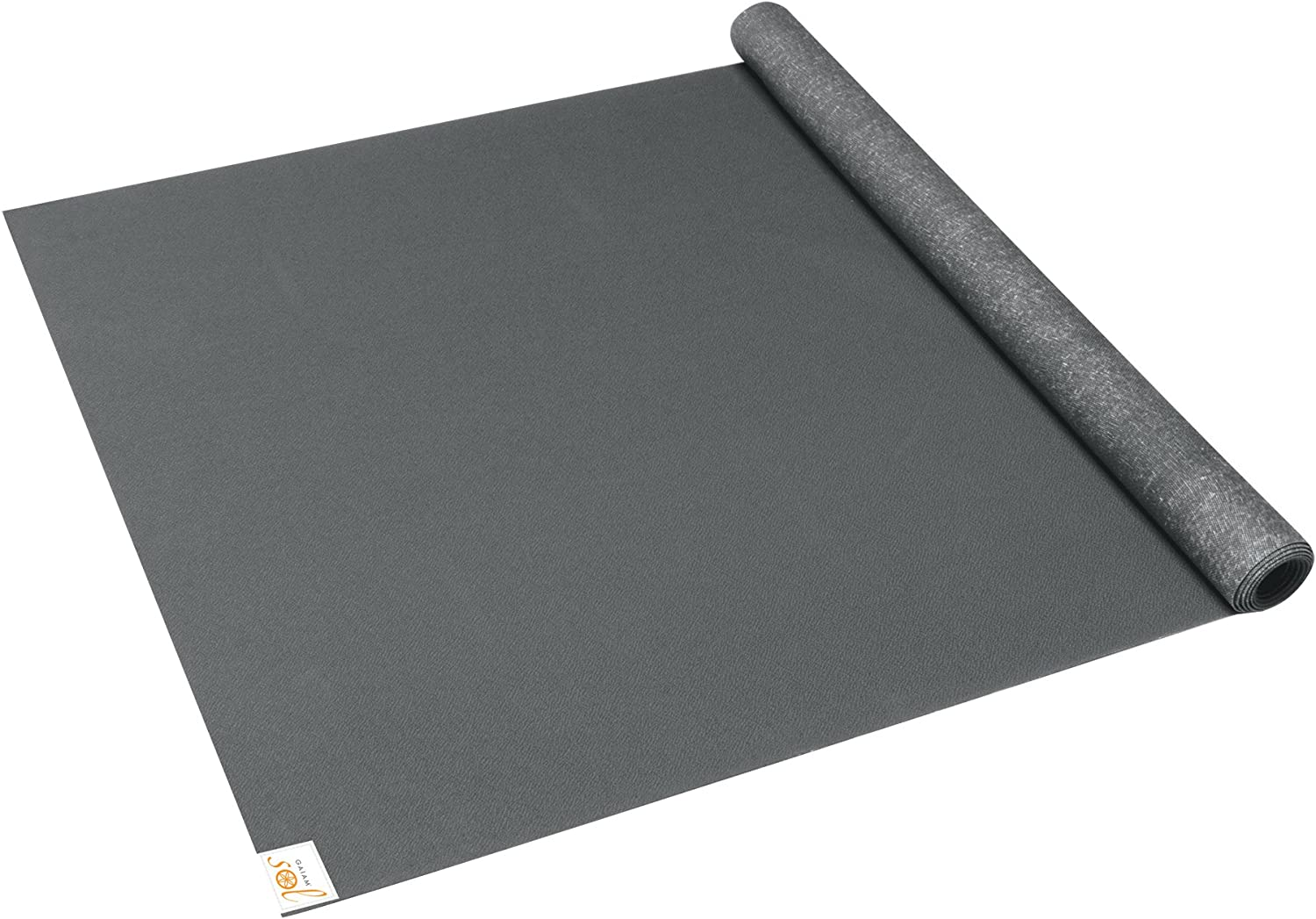 Amazon.com : Gaiam Sol Thin-Grip Yoga Mat, Slate, 1mm : Thin ...