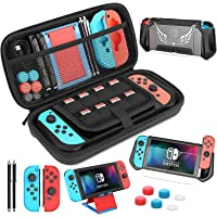 HEYSTOP Carry Case Compatible with Nintendo Switch, Upgraded 14 in 1 Switch Accessories Include Travel Case, TPU…