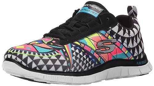 Skechers Flex Appeal - Arrowhead Zapatillas de Deporte, Mujer, Negro, 36: Amazon.es: Zapatos y complementos