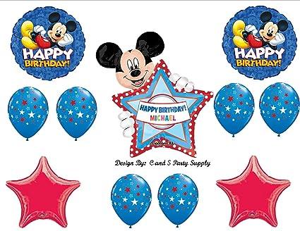 Amazon.com: Rojo de Mickey Mouse Personalizado Feliz ...