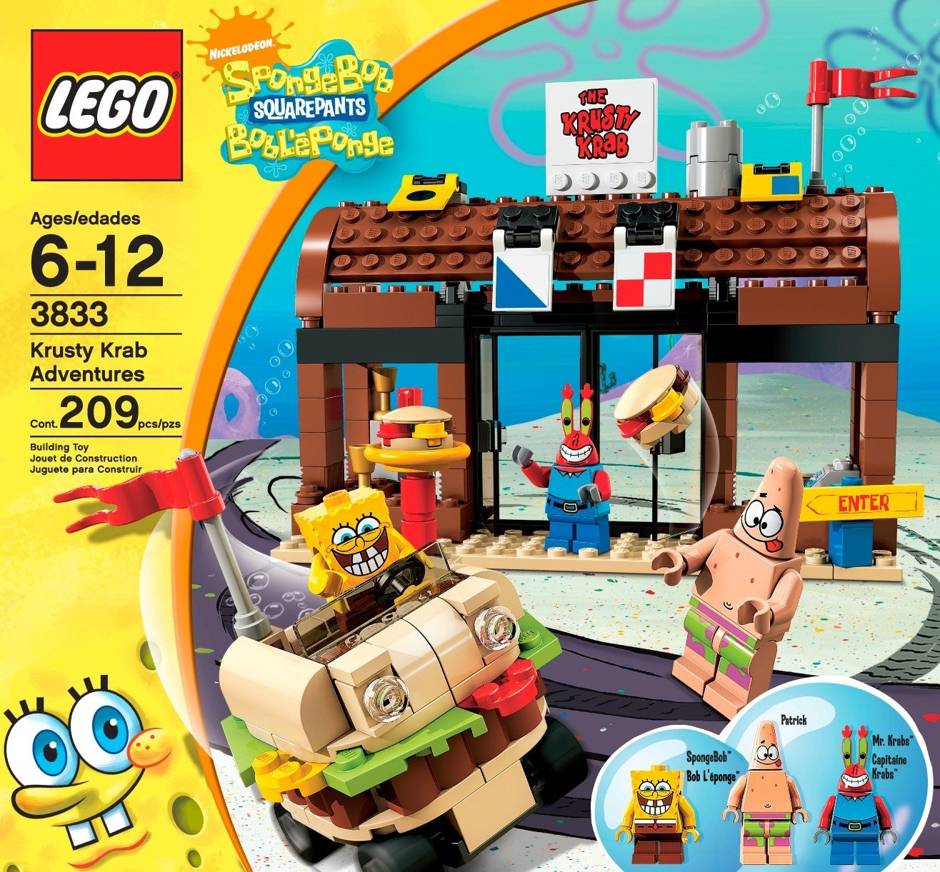 Amazon Com Lego Spongebob Squarepants Krusty Krab Adventures Toys