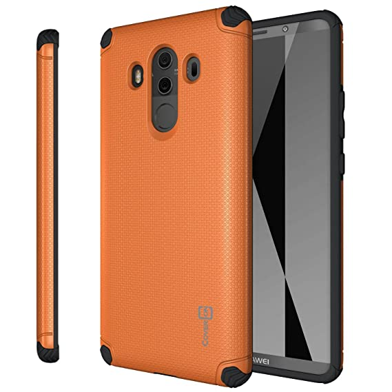 first rate 0ea7a 78194 Huawei Mate 10 Pro Case, CoverON Bios Series Magnetic Car Mount Compatible  Premium Protective Phone Cover for Mate 10 Pro - Orange and Black