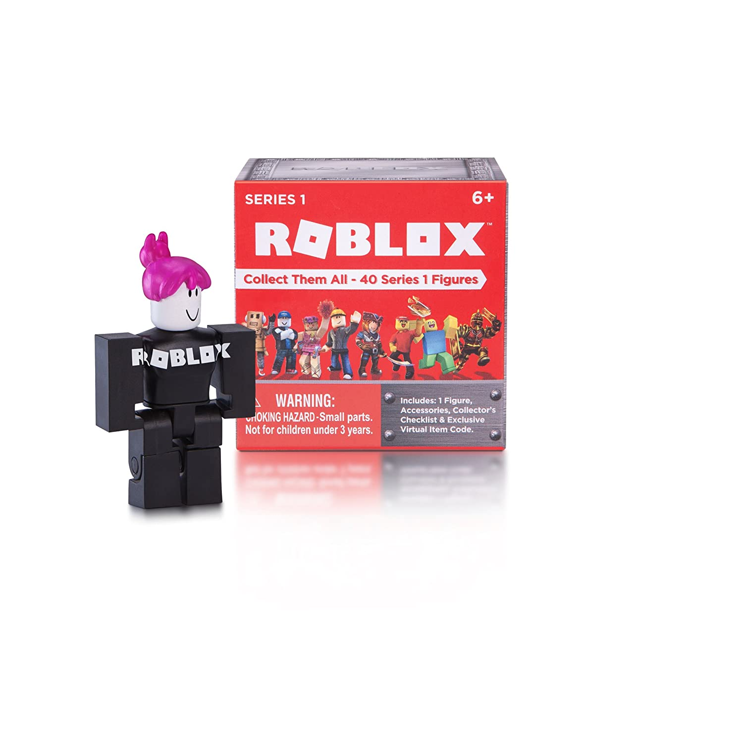 Amazoncom Roblox Series 1 Action Figure Mystery Box Toys Games