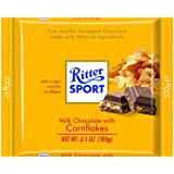 Ritter Sport, Milk Chocolate with Corn Flakes, 3.5-Ounce Bars (Pack of 10)