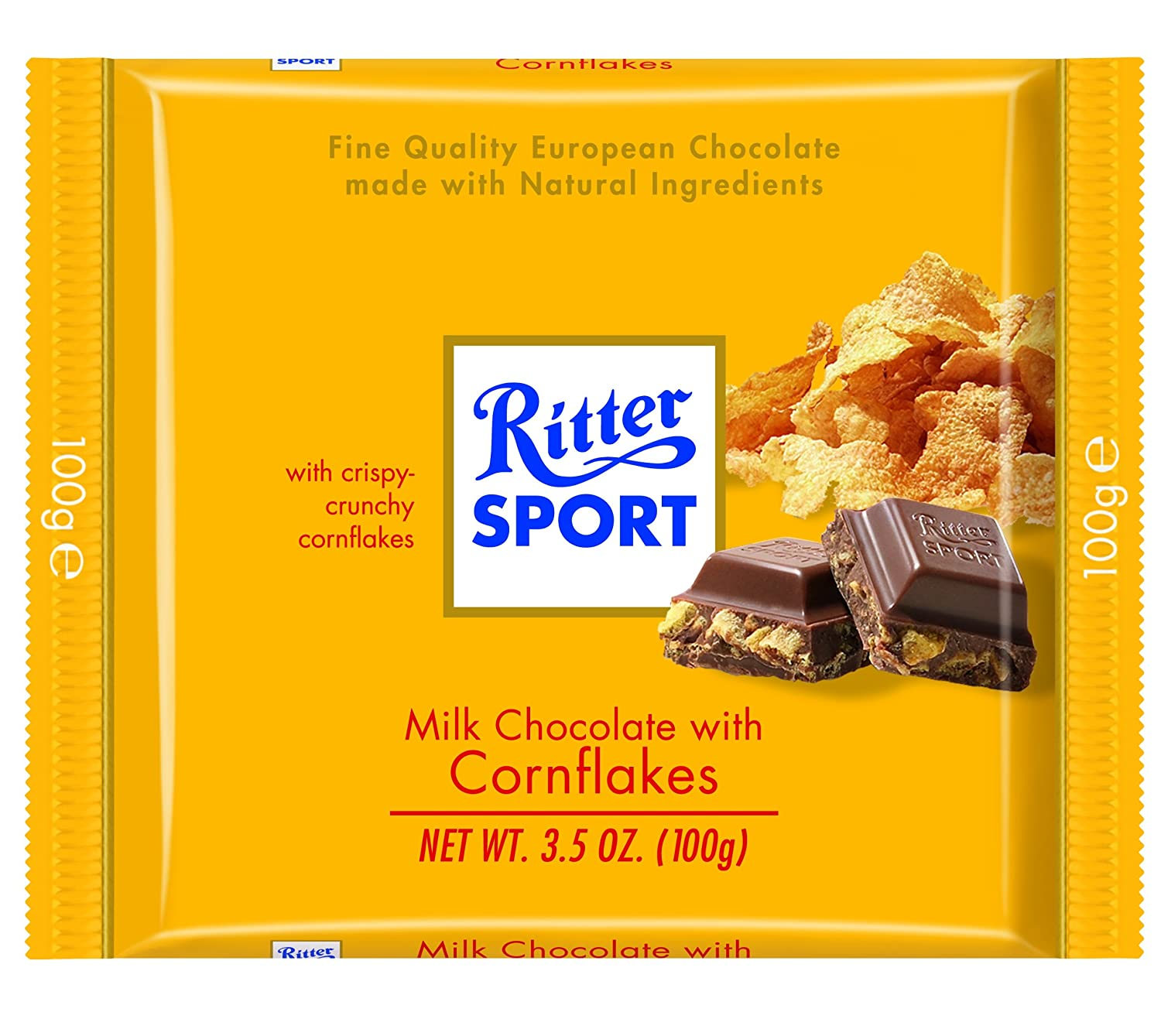 Amazon.com : Ritter Sport, Milk Chocolate with Corn Flakes, 3.5 ...