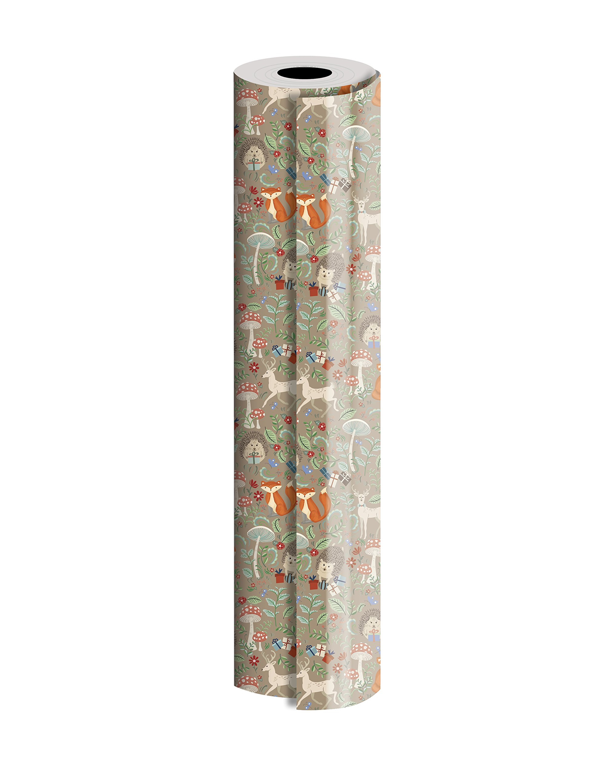 Jillson Roberts Bulk 1/4 Ream Gift Wrap Available in 14 Different Designs, 24'' x 208', Krafty Fox