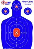 EASYSHOT Shooting Targets 18 X 12 inch. Shots are Easy to See with Our High-Vis Neon Blue & Red Colors. Thick Silhouette Paper Sheets for Pistols, Rifles, BB Guns, Airsoft, Pellet Guns & More.
