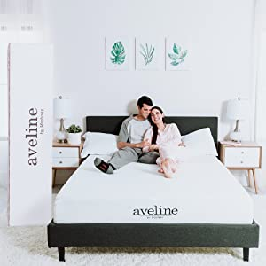"Modway Aveline 10"" Gel Infused Memory Foam Queen Mattress With CertiPUR-US Certified Foam, White"