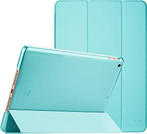 ProCase iPad 10.2 Case 2019 iPad 7th Generation Case, Slim Stand Hard Back Shell Protective Smart Cover Case for iPad 7th Gen 10.2 Inch 2019 (A2197 A2198 A2200) –Aqua