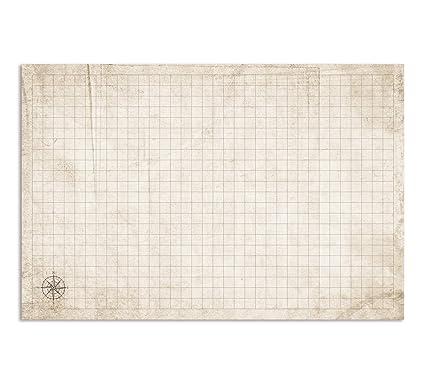 RPG Battle Grid Game Mat - 24 x 36 inch Dungeons Dragons Game Mat - DND  Miniatures Battlemat - Dry Erase Battle Board - DND Accessories